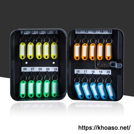 Hộp mật khẩu đựng chìa khóa KB036 treo tường màu đen 3 số